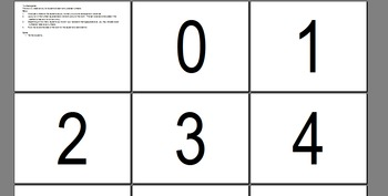 Numbers Learning Game - Introductory Language Class (45-60 mins)