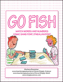 Numbers Go Fish ★ FREEBIE ★