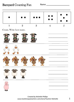 Math Numbers Worksheets - Grade 1