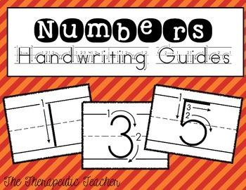 Numbers Handwriting Guides FREEBIE
