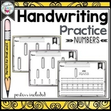 Numbers Handwriting Practice Sheets