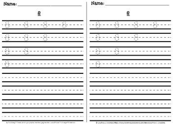 Numbers Handwriting Practice Sheets