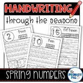 Numbers Handwriting Practice for Spring