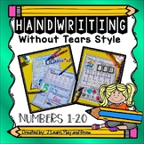 Numbers Handwriting Without Tears HWT Style Pre-K to 1st