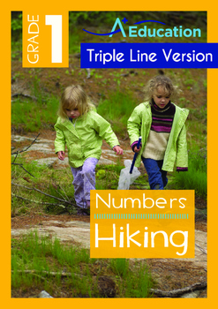 Numbers - Hiking (I) - Grade 1 (with 'Triple-Track Writing Lines')
