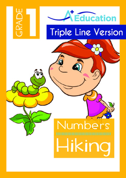 Numbers - Hiking (II) - Grade 1 (with 'Triple-Track Writing Lines')