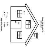 Numbers House Coloring Worksheet