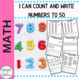 Numbers Count and Write Worksheets Numbers 1-50