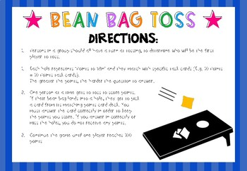 Numbers, Integers and Decimals - Bean Bag Toss Style Math Revision