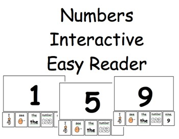 Numbers Interactive Easy Reader {2 Versions} {1-10}