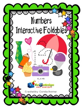 Numbers Interactive Foldable Booklets