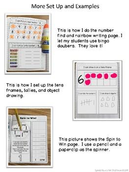 Numbers Interactive Notebook 1-20
