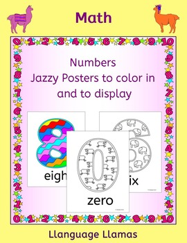 FREE Number Posters - decorate your kinder classroom