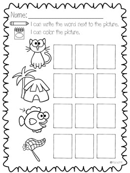 Numbers, Letters, Sounds, and CVC Words Puzzles