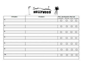 Numbers, Letters, and Introductions Conversation Activity--Hollywood Party!