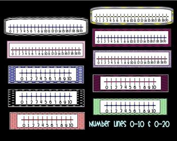 Numbers Lines 0-10 & 0-20