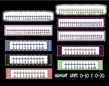 Number Lines 0-10 & 0-20