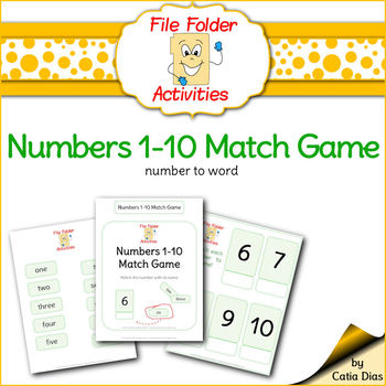 Numbers Match 1-10 FILE FOLDER ACTIVITIES