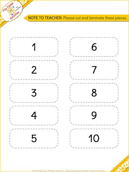 Numbers Matching 1-10 - balls 2 FILE FOLDER ACTIVITIES