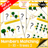 Numbers Matching 1-10 - trees 2 FILE FOLDER ACTIVITIES