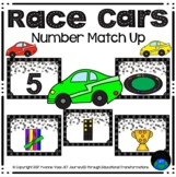 Numbers Match Up Race Cars Math Center