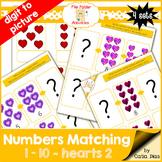 Numbers Matching 1-10 - hearts 2 FILE FOLDER ACTIVITIES
