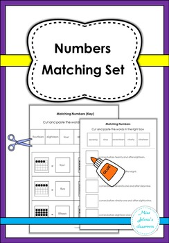 Numbers Matching Set