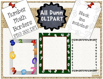 Numbers Math Borders