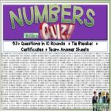 Numbers Math Quiz