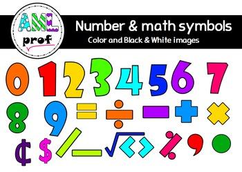 Numbers & Math Symbols clipart (Chiffres et symboles mathématiques)
