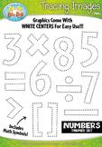 Numbers Tracing Image Clipart {Zip-A-Dee-Doo-Dah Designs}