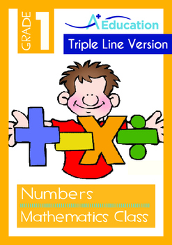 Numbers - Mathematics Class (I) - Grade 1 (with 'Triple-Track Writing Lines')