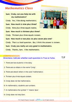 Numbers - Mathematics Class - Grade 1