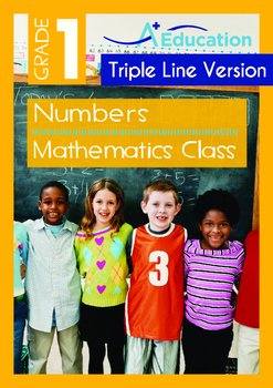 Numbers - Mathematics Class (II) - Grade 1 (with 'Triple-Track Writing Lines')