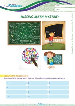 Numbers - Missing Math Mystery - Grade 5