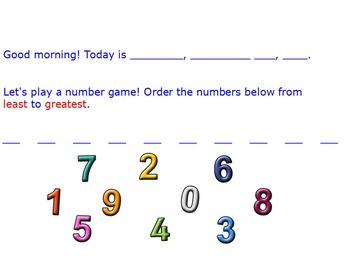 Numbers Flip Chart