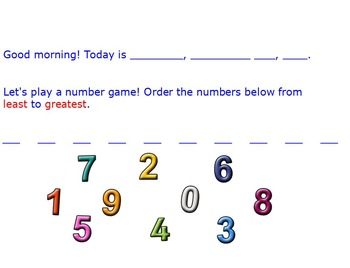 Numbers Flip Chart