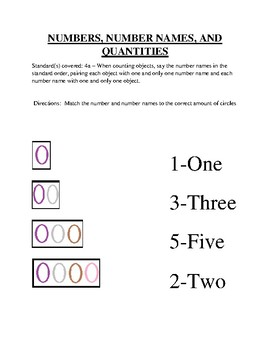 Numbers, Names, and Quantities