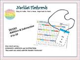 NECKLET FLASHCARDS: Basic Equations, Addition/Subtraction, 0-10, 1st Grade CCS