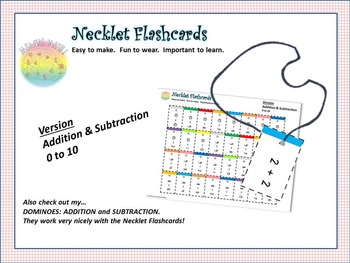 NECKLET FLASHCARDS: Basic Equations, Addition/Subtraction,