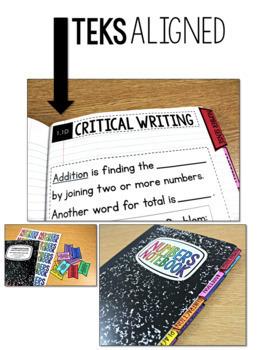 TEKS Numbers Notebook First Grade BUNDLE