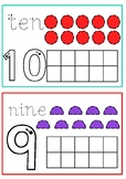 Numbers, Number Names and Shapes playdough mats