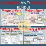 Numbers/Number Words: Counting, Match-ups, Doubles, One More/Less BUNDLE