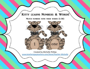 Numbers & Number Words - Kitty Learns Numbers & Number Words