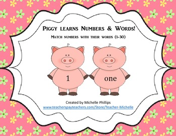 Numbers & Number Words - Piggy Learns Numbers & Number Words