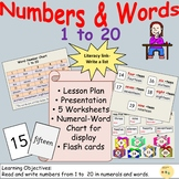 Numbers/Number Words 1: Presentation, Lesson Plan, Workshe