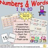 Numbers/Number Words 1: Presentation, Lesson Plan, Workshe