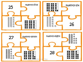 Numbers, Numbers 1-30 - Orange