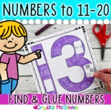 Numbers, Numbers, Numbers! Cut & Paste Number Recogniton Printables 11-20