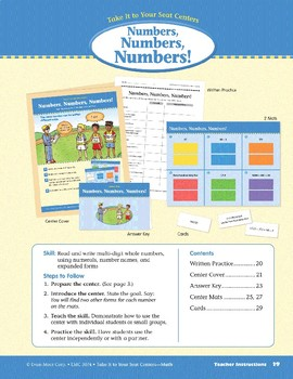 Numbers, Numbers, Numbers (Take It to Your Seat Centers Common Core Math)